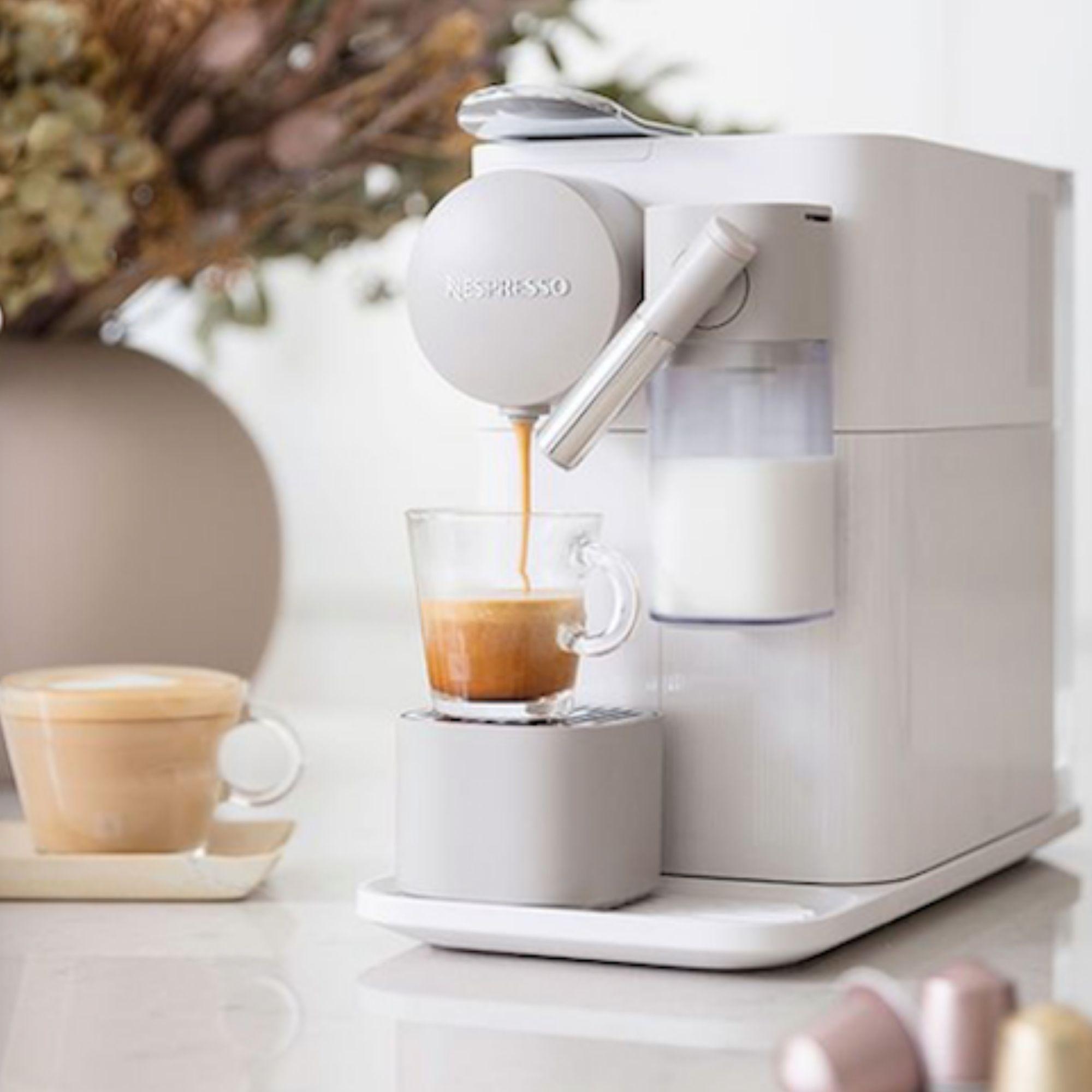 Nespresso machine making an espresso