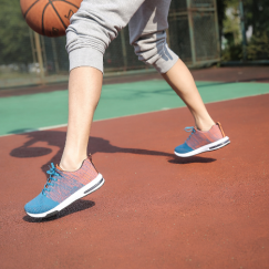 Person playing basketball