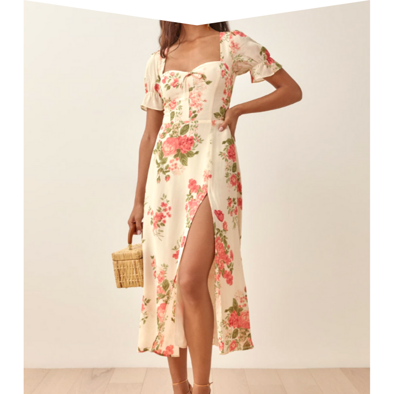 Floral dress by Reformation