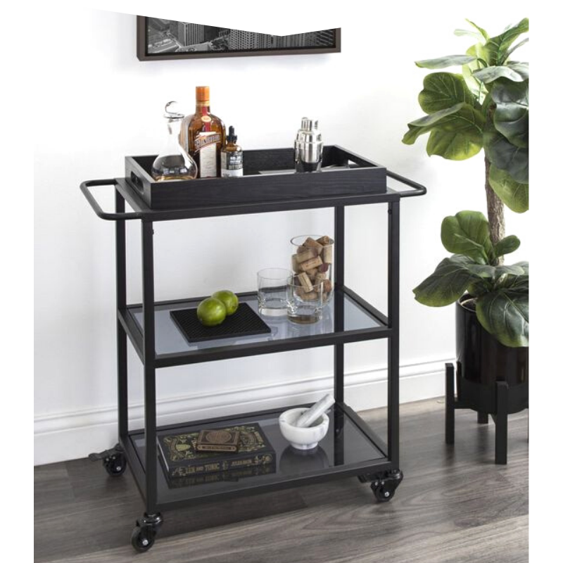 Black bar cart