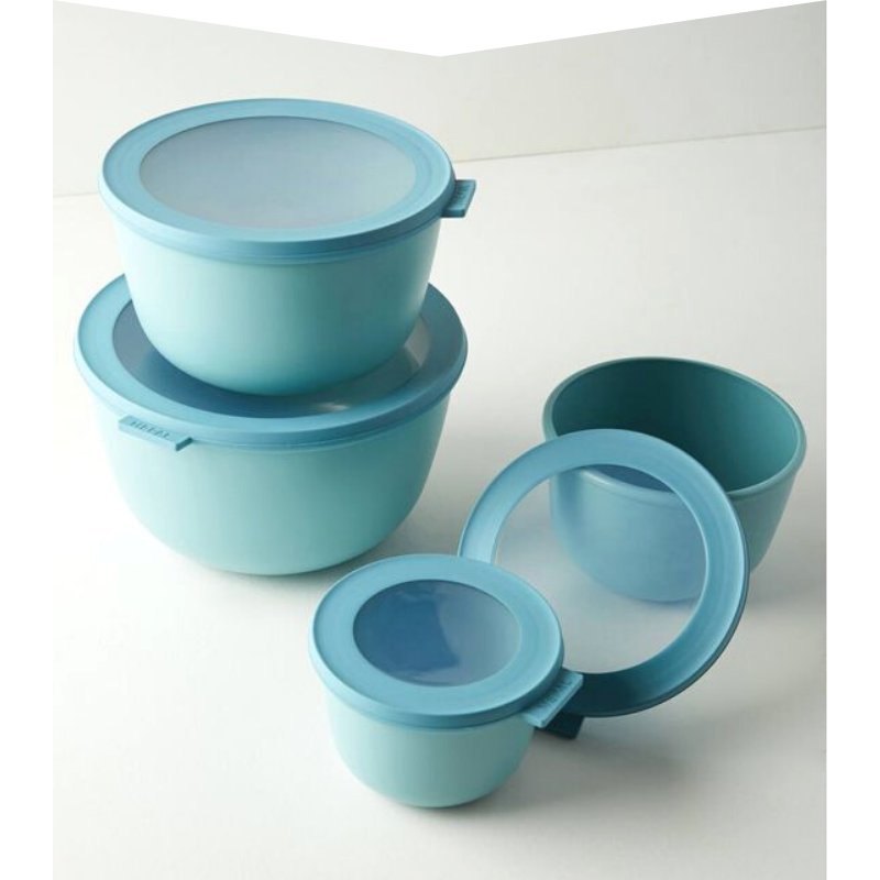 Set of mixing bowls with lids from Nordstrom