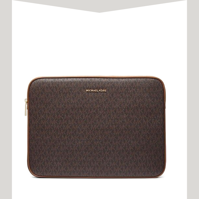 Brown leather Michael Kors laptop case