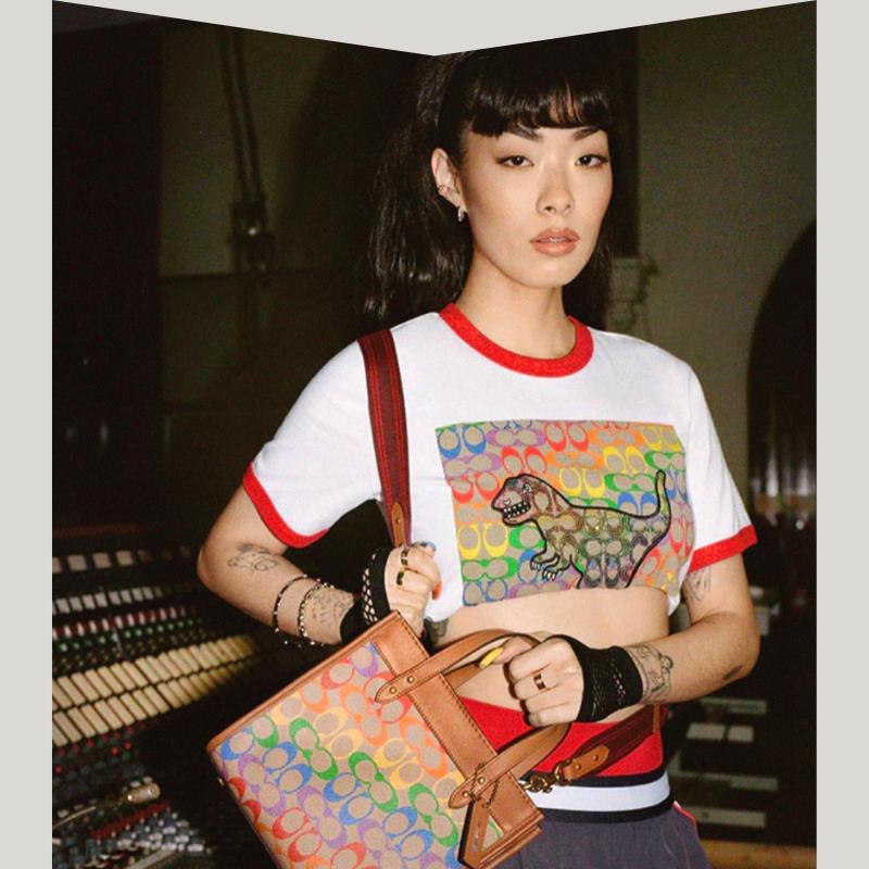 Coach Pride t-shirt and handbag