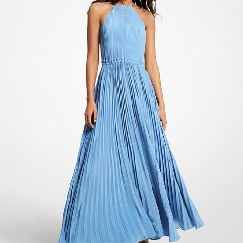 Michael Kors blue maxi dress