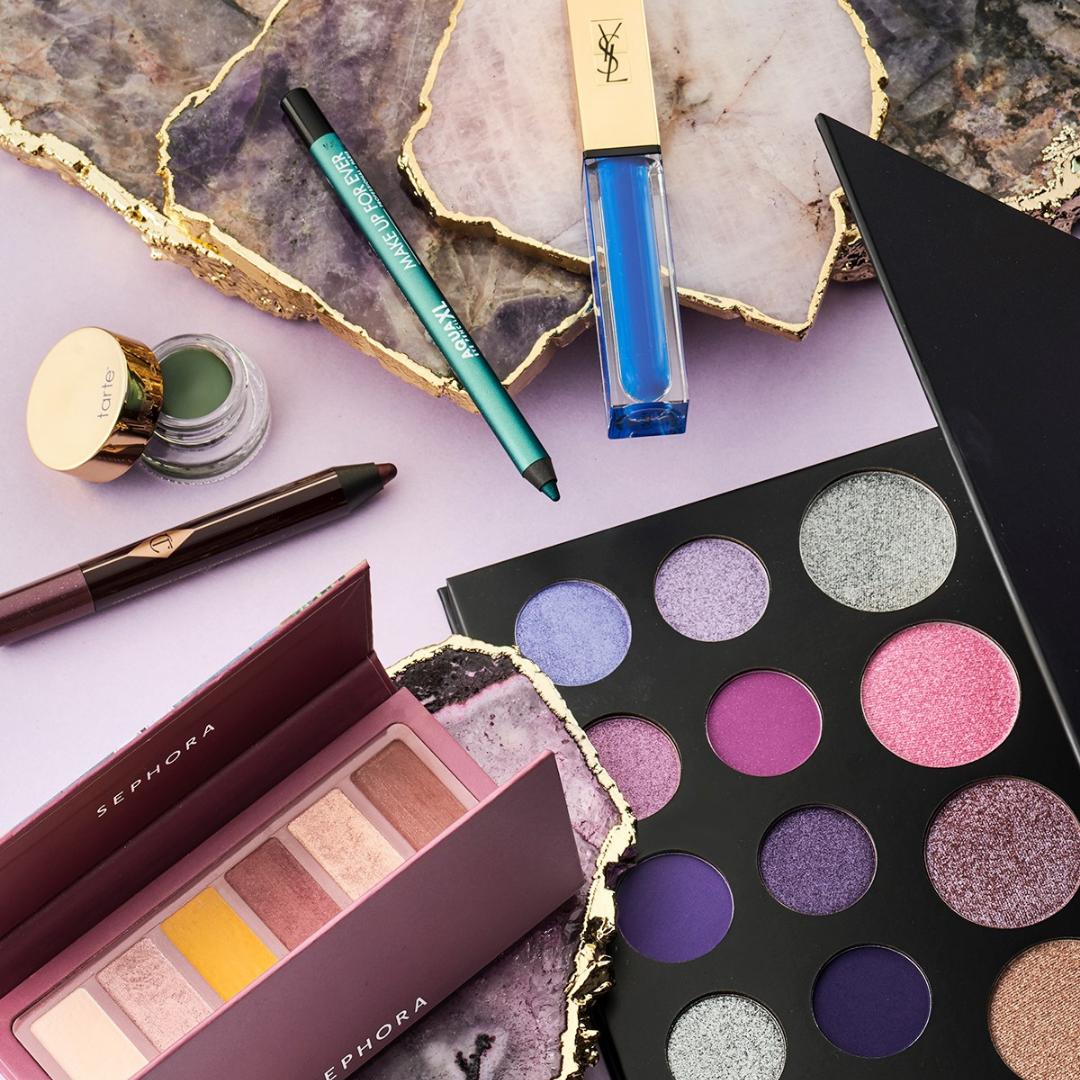 Eyeshadow palettes & eyeliner from Sephora