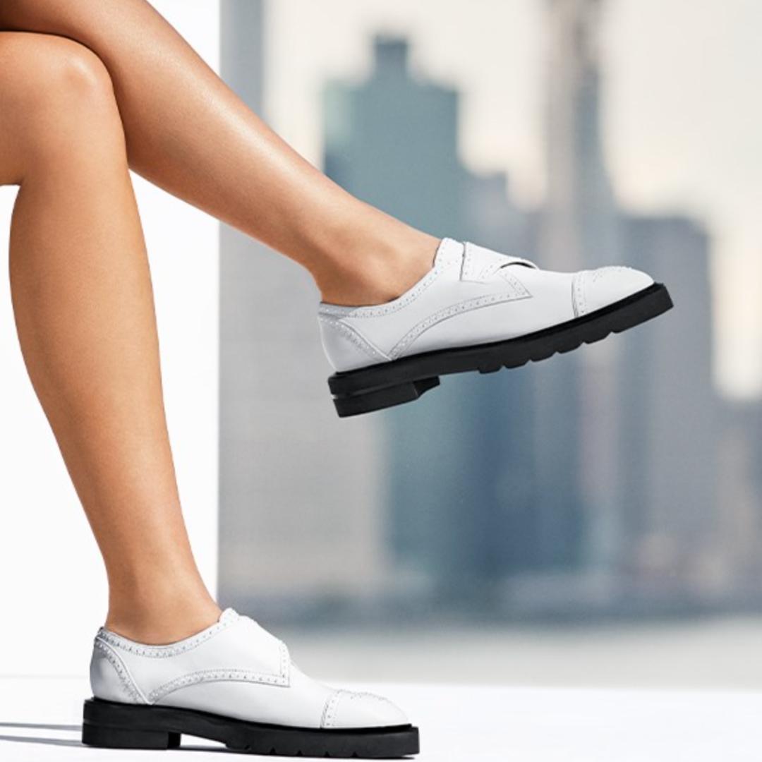 Stuart Weitzman white shoes