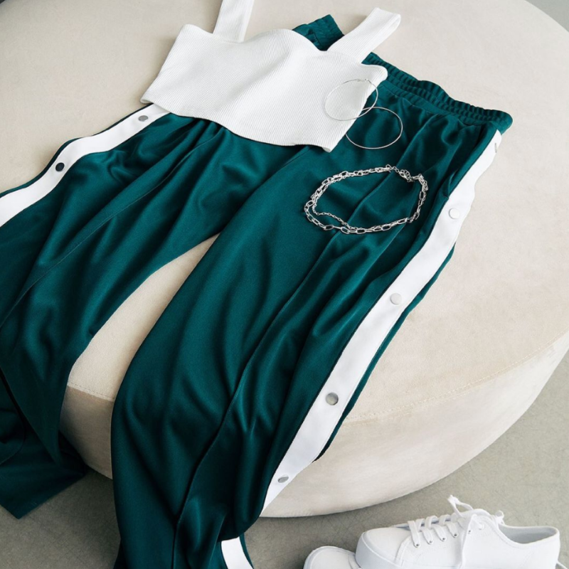 Crop top + track pants from H&M