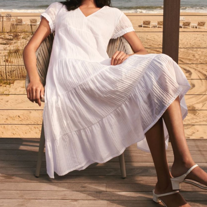 white dress from Club Monaco