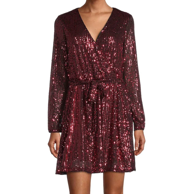 Red sequin dress from Hudson's Bay
