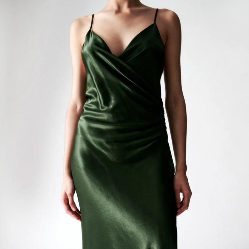 Zara green slip drews