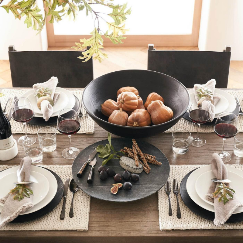 Table setting from Pottery Barn